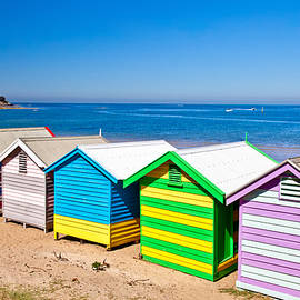 Brighton Beach Huts by Az Jackson