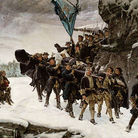 Bringing Home the Body of Charles XII - Gustaf Cederstrom