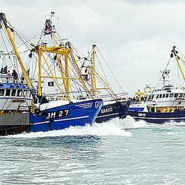 Brixham Trawlers Racing by Peter Hunt