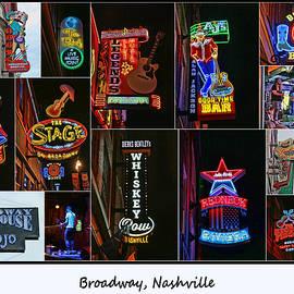 Allen Beatty - Broadway, Nashville - Collage