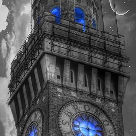 Bromo Seltzer Tower Baltimore - Blue  - Marianna Mills