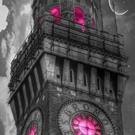 Bromo Seltzer Tower Baltimore - Pink Clock - Marianna Mills