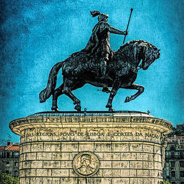 Bronze Equestrian Statue of King John I by Sue Melvin