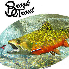 Paul Buggia - Brook Trout T-shirts art
