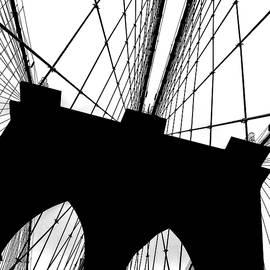 Brooklyn Bridge Architectural View by Az Jackson