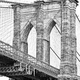 Regina Geoghan - Brooklyn Bridge in Black and White