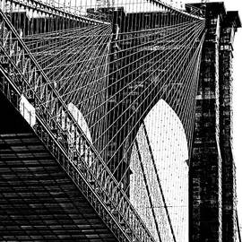 Regina Geoghan - Brooklyn Bridge Perspective in Black and White