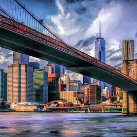 New York City Brooklyn Bridge Skyline by Christopher Arndt