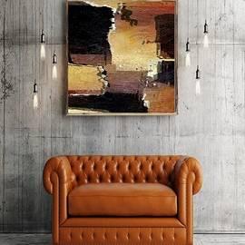 Brown Black Abstract Interior Showcase by Delynn Addams