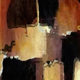 Brown Black Block Abstract by Delynn Addams