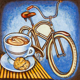 Mark Jones - Brown Electra delivery bicycle coffee and amaretti