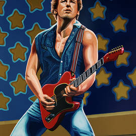 Bruce Springsteen The Boss Painting by Paul Meijering