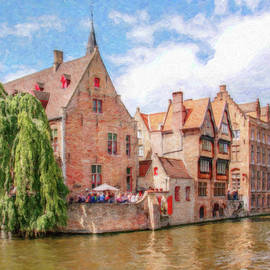 Bruges Canal Belgium Dwp-2611575 by Dean Wittle