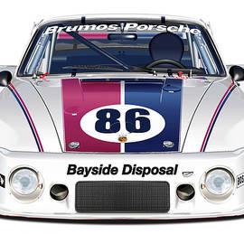 Alain Jamar - Brumos Porsche 935 illustration