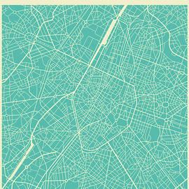 BRUSSELS STREET MAP - Jazzberry Blue