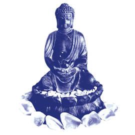 Gina Dsgn - Buddha and white stones