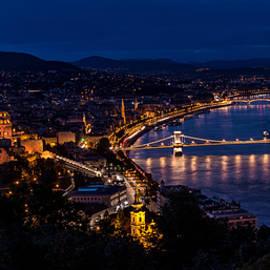 Budapest At Night by Jaroslaw Blaminsky