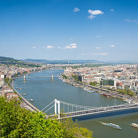 Budapest With Elisabeth Bridge Lovely View by Matthias Hauser