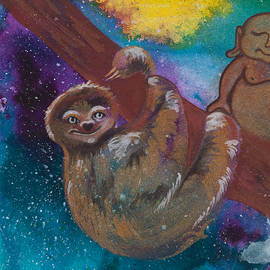 Buddha and the Divine Sloth No. 2087 by Ilisa Millermoon