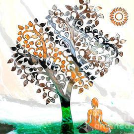 Carl Gouveia - Buddha  under a tree