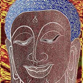 Ian Gledhill - Buddha Vintage Digital Portrait