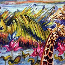 Harsh Malik - BUDDHA with Giraffe