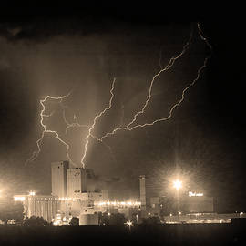 Budweiser Powered By Lightning Sepia by James BO Insogna