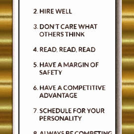 Mario Carini - Buffett Rules for Success