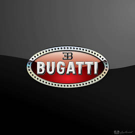 Bugatti - 3 D Badge on Black