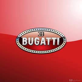 Bugatti - 3 D Badge on Red
