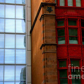 Buildings in Color and Reflection by Noa Yerushalmi