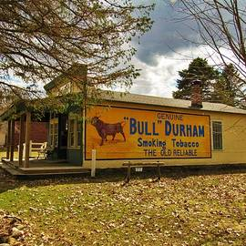 Curtis Tilleraas - Bull Durham Sign on Store