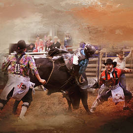 Bullfighters in Action by Toni Hopper