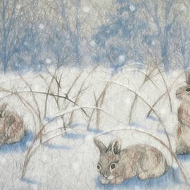 Donna Kennedy - Bunnies In the Snow