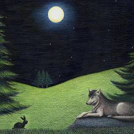 Danielle R T Haney - Bunny Visits Wolf