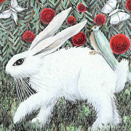 Bunny with Hitchhiker by Lise Winne
