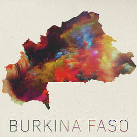 Burkina Faso Watercolor Map - Design Turnpike