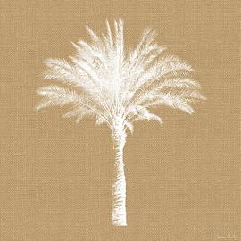 Burlap Palm Tree- Art by Linda Woods - Linda Woods
