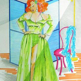 Jayne Somogy - Burly-Que Babe -- Portrait of Burlesque Dancer