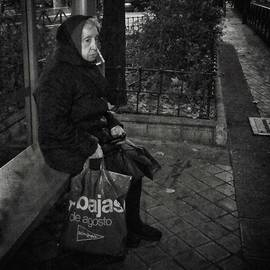 Bus Stop Lady #streetphotography