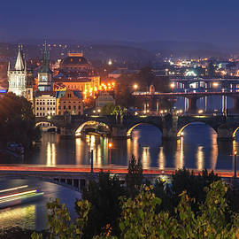 Jenny Rainbow - Busy Traffic on Vltava River. Prague