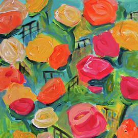 Walk In Rose Garden by Haleh Mahbod