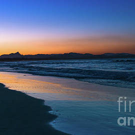 Byron Bay after the sun sets by Andrew Michael