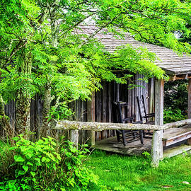 Cabin at the top Mt LeConte by Debra and Dave Vanderlaan