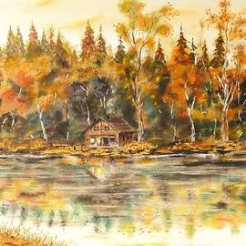 Joy of Life Art Gallery - Cabin On The Lake