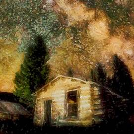 Cabins Under the Milky Way by Mario Carini