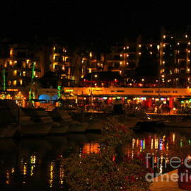 Cabo San Lucas Marina after dark  Lit up by Charlene Cox