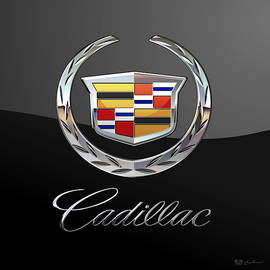 Cadillac - 3 D Badge On Black