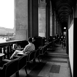 Cafe Marly  Paris. by Cyril Jayant