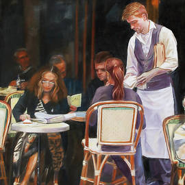 Dominique Amendola - Cafe Scene In Paris